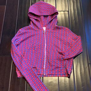 Frank and Eileen Red Plaid hoodie size small for sale